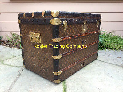 LOUIS VUITTON Antique Monogram Travel Wardrobe Steamer Trunk chest purse bag LV1