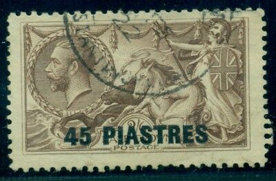 GREAT BRITAIN OFFICES TURKISH EMPIRE #62 45pi on 2sh6p brown, used, VF,