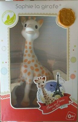NEW Vulli Sophie the Giraffe Baby Teether Natural Rubber Pacifier Squeaker Toy