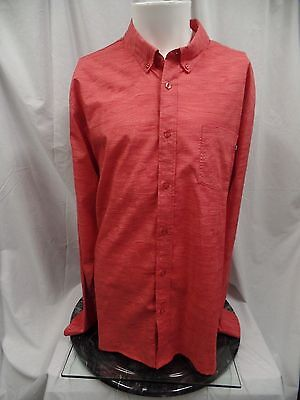 NIKE SB Long Sleeve Button Up / Down Shirt Coral Men's 2XL XXL - Excellent