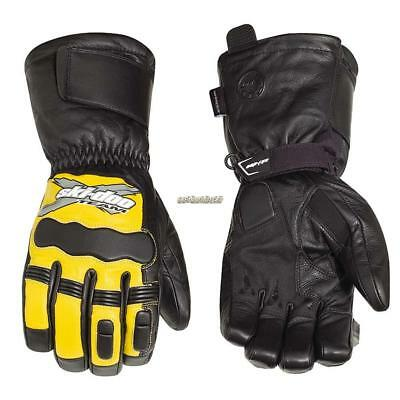Ski-Doo Men's X-Team leather gloves - Sunburst Yellow