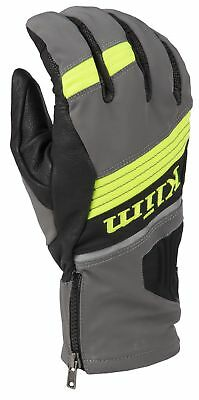 2018 Klim Powerxross Glove - Dark Gray-Hi Vis