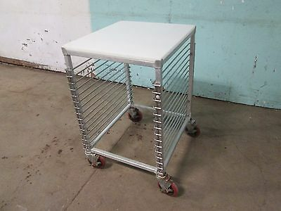 H.D. COMMERCIAL ALUMINUM FULL SIZE SHEET PAN SPEED RACK/CARRIER w/POLY BOARD TOP