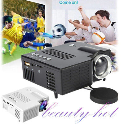 1080P Full HD 3D Multimedia Portable Projector LED Home Theater Cinema UK Plug
