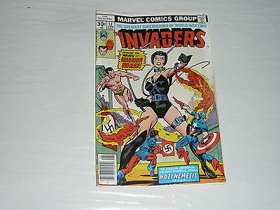Marvel Comics Invaders No17 Stored Since 1970s Captain America World War 2 WWII
