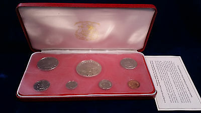 1974 Liberia Proof Set with SILVER $5 Coin!