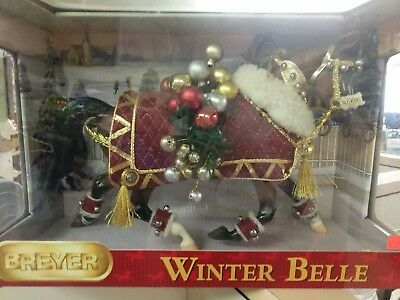 NIB Breyer Winter Belle 2011 Holiday Christmas Horse - Misty's Twilight Mold