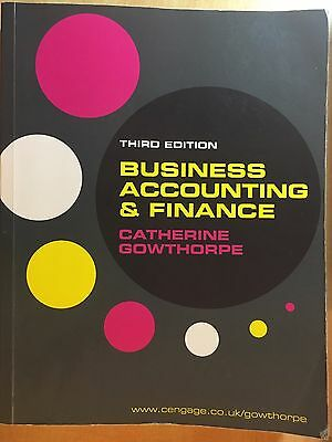 Business Accounting and Finance by Catherine Gowthorpe (Paperback, 2011)
