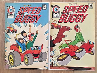 Speed Buggy # 1 and 2 (Charlton comics 1975) VF/NM 9.0 Hanna Barbera Classic