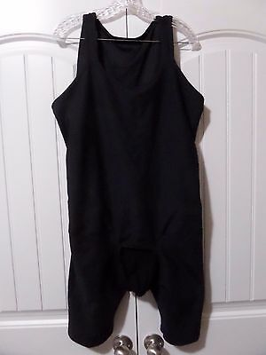 Men's Underworks Compression Bodysuit with Rear Zipper- Black- Size XL