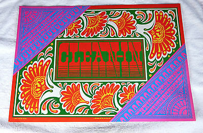 """HAIGHT-ASHBURY CLEAN-IN PSYCHEDELIC ART POSTER: Original:14""""H x 20""""W:1967"""