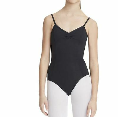 Capezio Adult Black Adjustable cami with pinch Front Leotard dance szL BNWT (8)