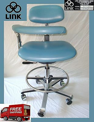 Link Ergo Professional, High Quality Dental Assistant Stool/Chair  Model 185ABSR