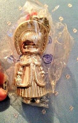 Joan Walsh Anglund 1973 Big Sister Sterling Christmas Ornament in sealed bag!