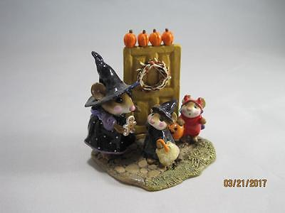 Wee Forest Folk Welcome Trick or Treaters! -  Limited Edition in WFF Box