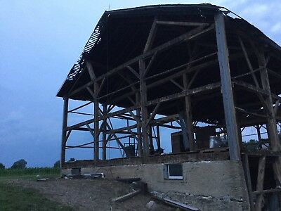 100+ Year Old Barn Wood And Beams From Wabash Co Indiana Amish Country Hand Hewn