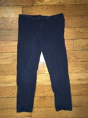 old navy blue lace full length leggings bottoms xs extra small 5 girls