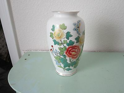 Porcelain Vase With Lotus Flower Is Signed On The Back.