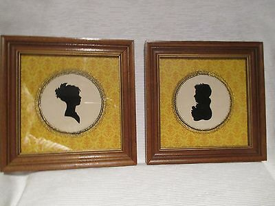 Antique Silhouette Portraits Husband & Wife