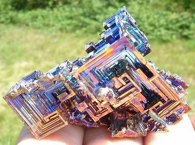 Bismuth Crystal 94.4 gram RAINBOW Specimen Made in the U.S.A.