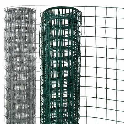 Nature Wire Mesh Fence Aviary Rabbit Chicken Poultry Cage Net 2 Sizes Green/Grey