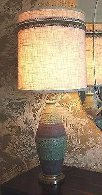 Vintage Bitossi Londi Probably Frederick Cooper Mid Century Italy Pottery Lamp