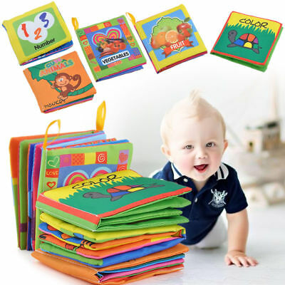 US Baby Toddler Intelligence Development Cloth Bed Cognize Book Educational Toys