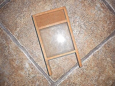Vintage Miniature Real Glass Antique Washboard