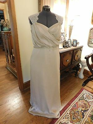Gorgeous Plus Dusty Light Pink Lace & Chiffon Formal Mother Dress In A Size 20