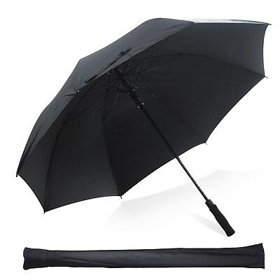 Kingstar Windproof Golf Umbrella Black Lightweight 60 inch Double Canopy Auto...