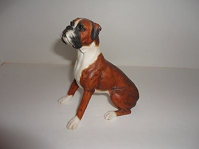 Boxer Dog Figurine Statue, detailed