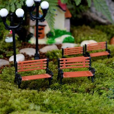 Miniature Fairy Garden Chair Park Bench Ornament  Pot DIY Craft Dollhouse Decor