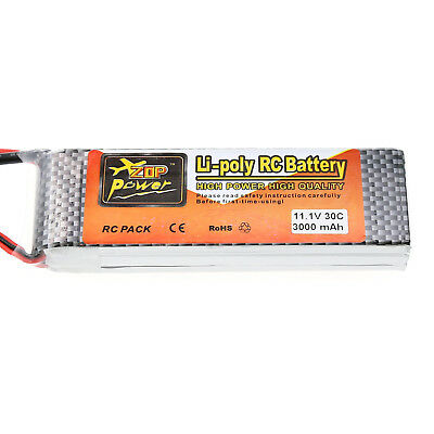 New Power 3000mAh 11.1V 30C Lipo Battery for RC Airplane Car Boat Deans Plug