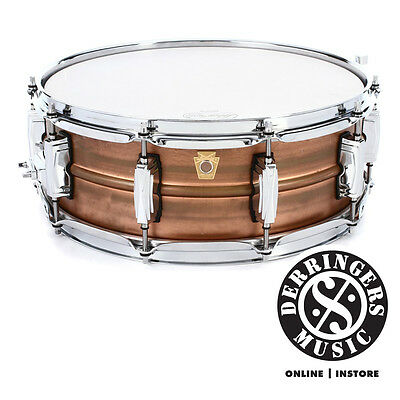 """Ludwig Copperphonic 14x5"""" Raw Shell Snare Drum"""