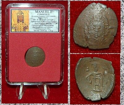 Ancient Byzantine Empire Coin MANUEL I  Nimbate Jesus Christ On Obverse Trachy