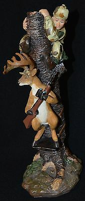 Deer Holding Gun Hunter in Tree Funny Hunter Comical Hunting Young's Inc. Resin
