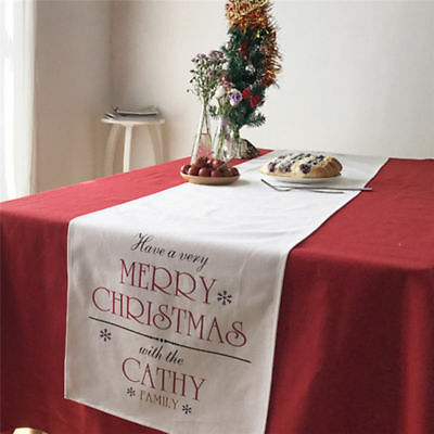 """17""""x70"""" high-quality Christmas Tablecloth Candy Cane Tree Table Runner Home Deco"""