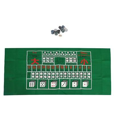 100pcs/Set Poker Chip w/ a Table Casino Layout Mat Cloth for Card Board Game