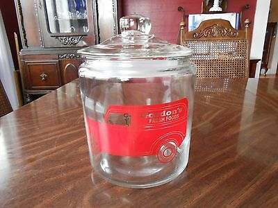 Gordon's Cracker Cookie Counter Display Jar Reproduction Perfect