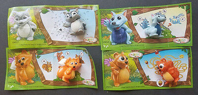 Lot of 4 Magic Kinder Surprise Natoons Forest Animals