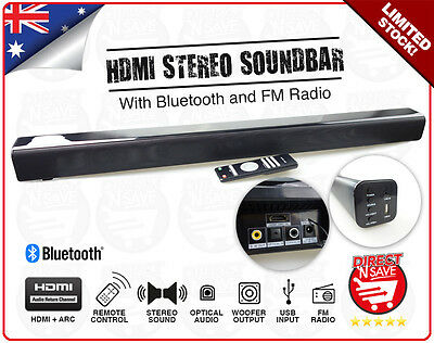 Soundbar Wireless Bluetooth Speaker FM Radio Audio HDMI ARC Optical SPK-SB160