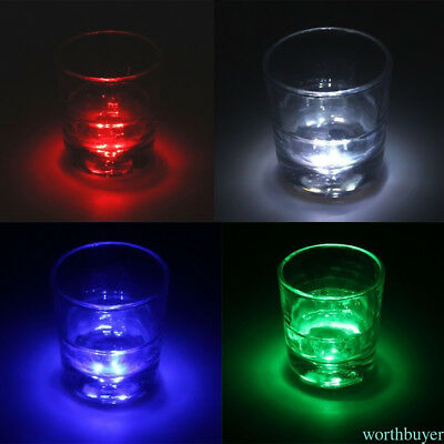 Flash Luminous Bottle Cup Mat Coaster Home Party Bars 3LED lights Cup Sticker QL