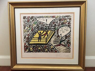 """MUHAMMAD ALI signed Serigraph """"Float like a Butterfly"""" 1979 -  STUNNING!!"""