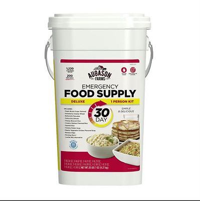Augason Farms 30 Day Supply Food Bucket Emergency Survival Deluxe Pail Kit MRE