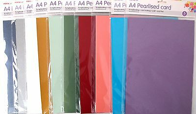 6Pk 230Gsm A4 Pearlised Cardstock Paper - Scrapbooking Craft Art Diy Project Fun