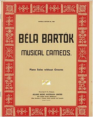 Bela Bartok Musical Cameos Piano Solos Without Octaves Sheet Music Book 13 Songs