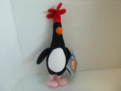 """RARE 1989 Feathers McGraw with Tag Plush Stuffed WALLACE & GROMIT 11"""""""