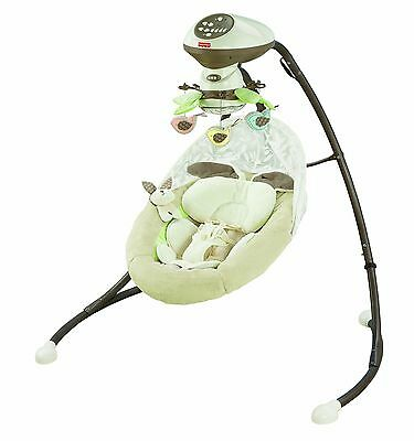 Fisher-Price Snugabunny Cradle 'N Swing with Smart Swing Technology CCF38 Used
