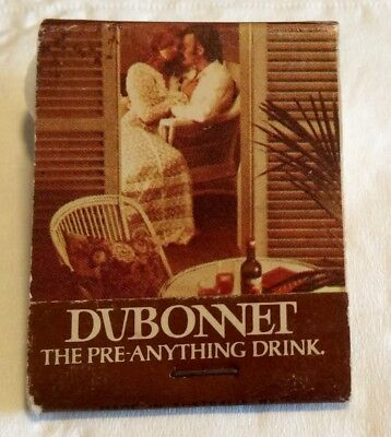 Dubonnet Matchbook. The Pre-Anything Drink. Wine Aperitif. Vintage Collectable.