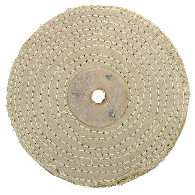 6 inch 150*20mm Sisal Cloth Buffing Wheel For Metal Stainless Steel Polishing
